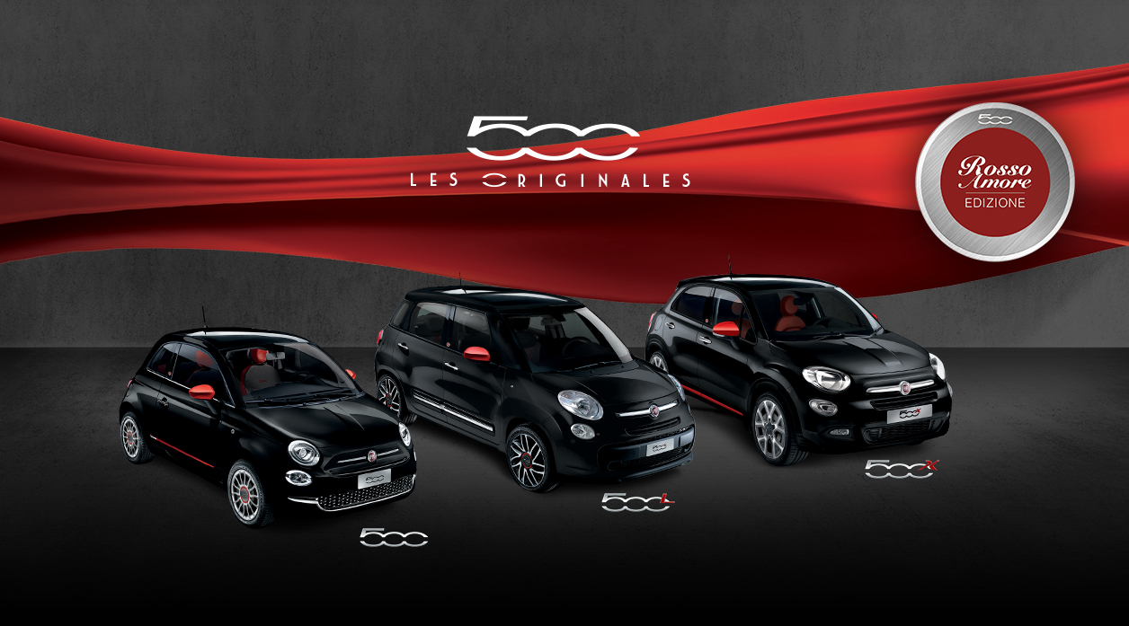 fiat s ries limit es rosso amore edizione vid o am today. Black Bedroom Furniture Sets. Home Design Ideas