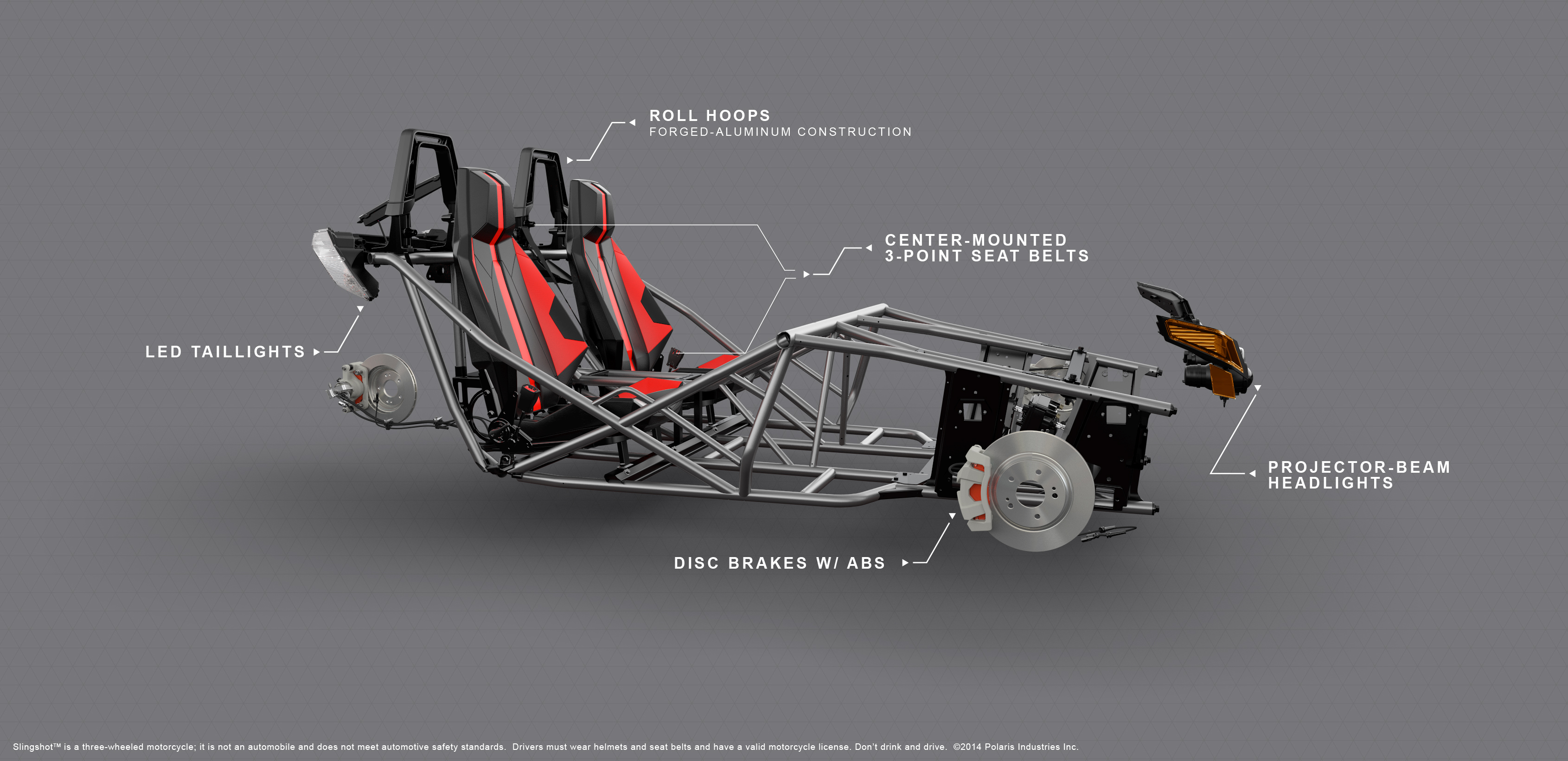 polaris roadster biplace slingshot am today. Black Bedroom Furniture Sets. Home Design Ideas