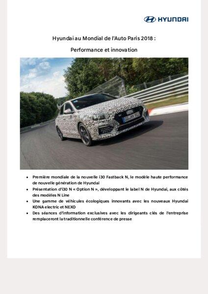 Hyundai Innovation Paris Mondial Et Au L'auto De 2018Performance VqMpzSU