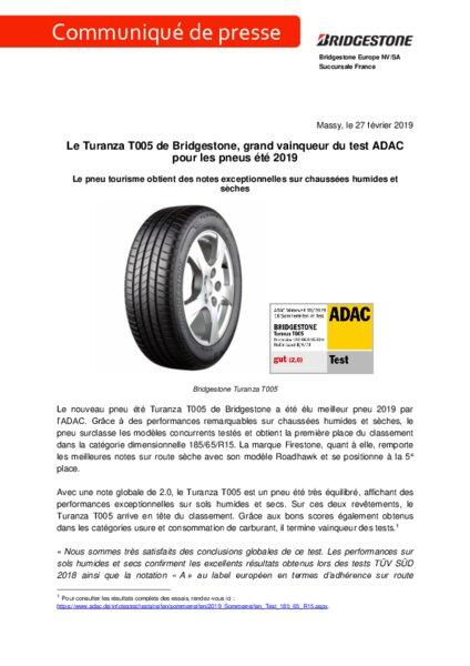 Meilleur Marque De Pneu >> Bridgestone Le Turanza T005 Grand Vainqueur Du Test Adac Am Today
