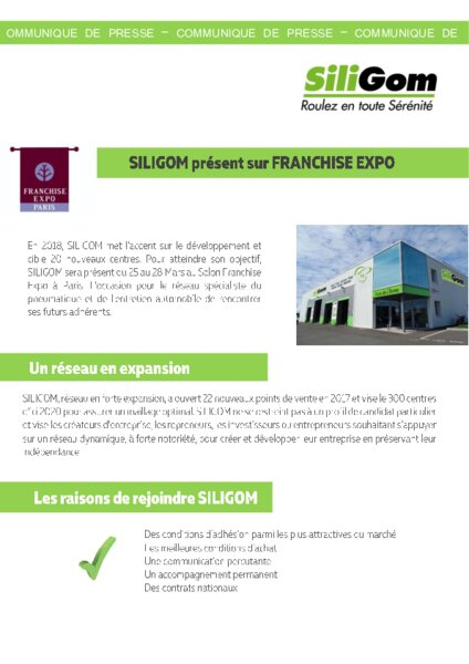 Siligom recrute au salon de la franchise am today - Salon de la franchise date ...