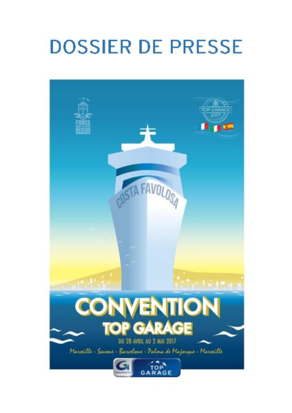 Convention top garage 1040 pros en croisi re am today for Garage costa marseille