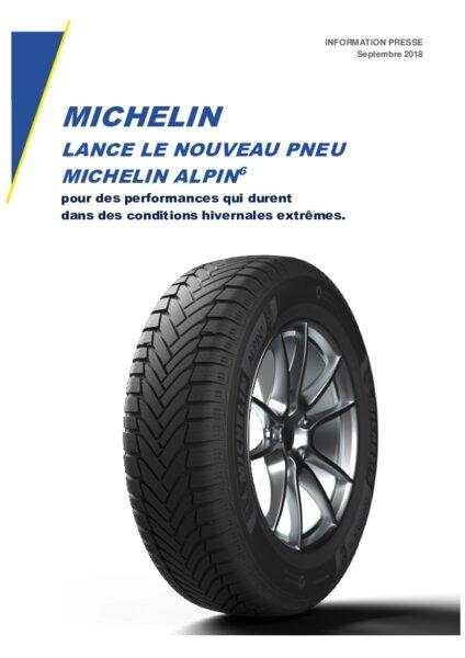 michelin lance le nouveau pneu michelin alpin 6 am today. Black Bedroom Furniture Sets. Home Design Ideas