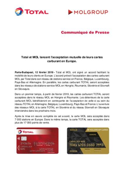 Carte Total Allemagne.Total Et Mol Lancent L Acceptation Mutuelle De Leurs Cartes