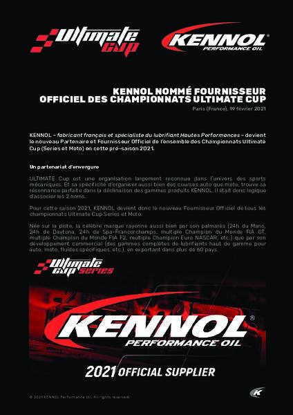 KENNOL PARTENAIRE ET FOURNISSEUR OFFICIEL DES CHAMPIONNATS ULTIMATE CUP (SERIES ET MOTO). dans Lubrifiants et le Sport bc68a5652161e530695b1d8c457a2da8