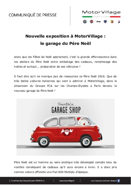 exposition motorvillage le garage du p re no l am today. Black Bedroom Furniture Sets. Home Design Ideas
