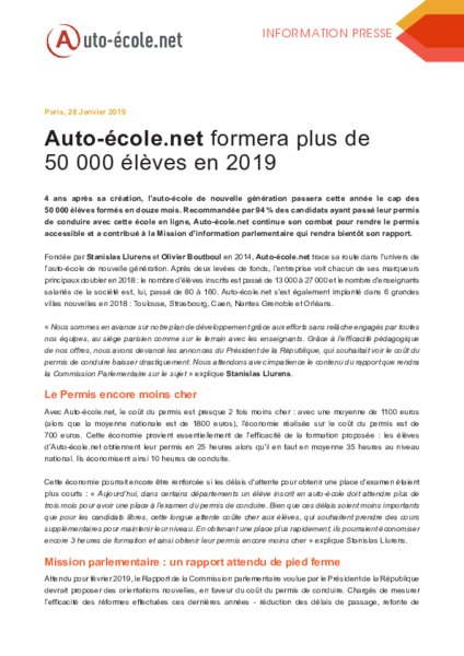 Auto Ecole Net Formera Plus De 50 000 Eleves En 2019 Am Today