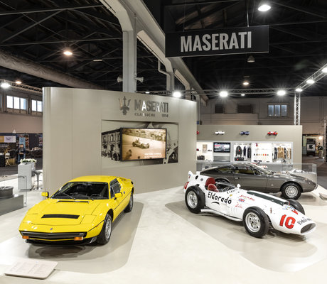 maserati au salon auto e moto d 39 epoca 2018 padoue am today. Black Bedroom Furniture Sets. Home Design Ideas