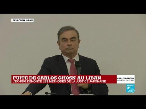 Après sa fuite du Japon, Carlos Ghosn s'exprime pour la première fois devant la presse (France 24)