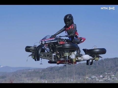 La première moto électrique volante : la LMV 496