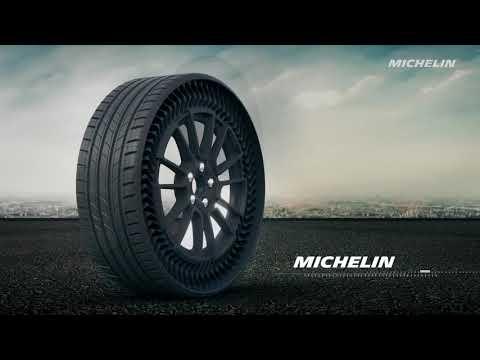 """Uptis est un ensemble monté (roue/pneu) """"airless"""" (sans air comprimé), increvable, destiné aux automobiles."""